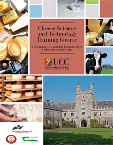 UCC cheese course brochure