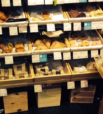 Bakery goods at food retailer