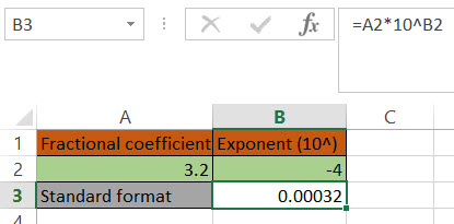 How to setup Excel to convert a number in scientific notation to standard notation