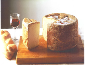 Castelmagno is produced with partly skimmed raw cows' milk