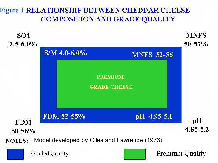 Lawrence model for predicting grade value of Cheddar cheese