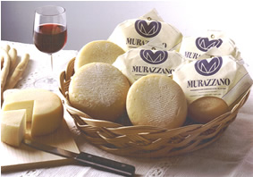 Murazzano is a fresh cheese produced from ewes' milk or a mixture of ewe' and cows' milk