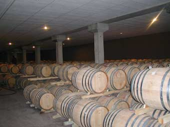 Storage of wine in barrels